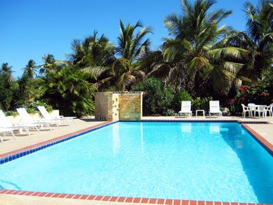 Enjoy the beautiful 20x40-foot pool, just steps away from The Villa