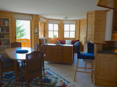Photo for 20m From Ski Lift And Village Centre- Villars Bright Modern Apartment