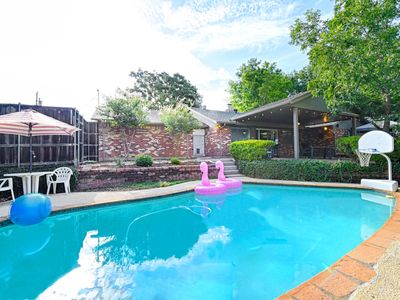 Photo for Private Pool, Volleyball,  BBQ, Fire Pit, & Outdoor Living, 20 min to FT Worth!
