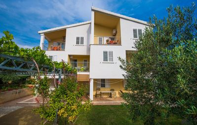 Photo for Apartments Anamarija A3, 150 m to the beach, 4-5 people, terrace, free WiFi