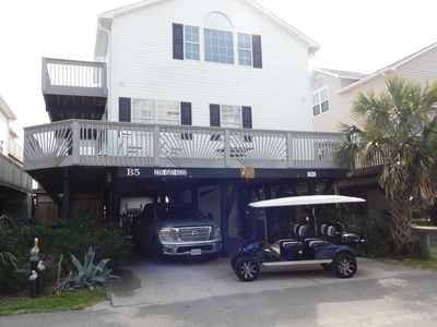LOCATION is key with Ocean View, LIMO golf cart