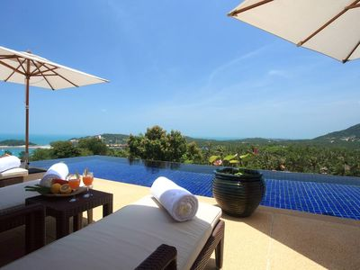Photo for Luxury and comfort with stunning views  Spacious open plan interiors This villa is an excellent exam