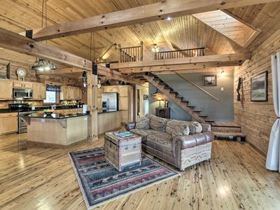 Photo for NEW! White River Cabin w/Decks, Game Room & Views!