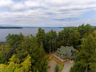 Photo for Custom lakefront lodge with private hot tub, game room, & tons of space!