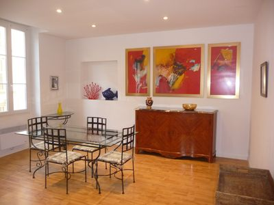 Photo for 80 m² Cannes center-Croisette Palais Fest quiet AC. Station: 5min walk