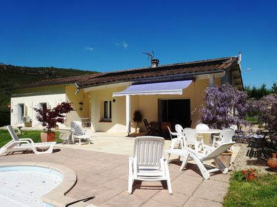 Photo for Villa with PRIVATE HEATED SALT POOL, AIR CONDITIONING, walking distance to town