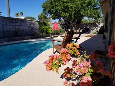 Photo for 3 BA 2 BA Sixties Vegas House, Central Location, Private Pool.