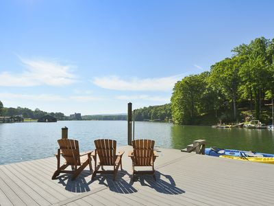 Photo for Cabin, Wood Fireplace, Hot Tub, Wi-fi, 2 Dogs,deep Water