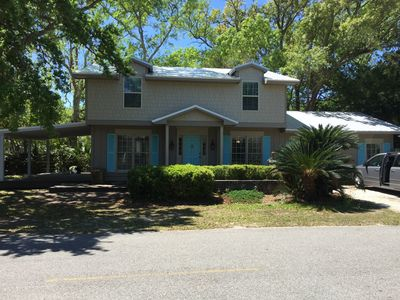 Photo for Exclusive East Beach charmer steps from the beach.  Family, dog & FLETC friendly