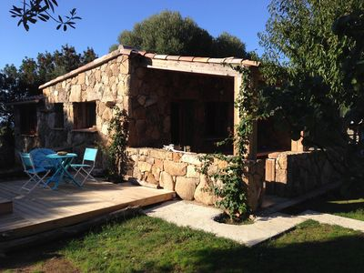 Photo for HOUSE CASEDDU typical stone, F2, 55m2, 2 / 4pers, JACUZZI spa, WIFI, PARKING