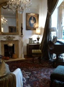 front parlor on second floor ,,,tea time and checking in
