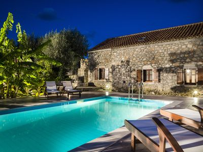 Photo for Secluded Stone Cottage with pool near Fiscardo Kefalonia. Sleeps 6