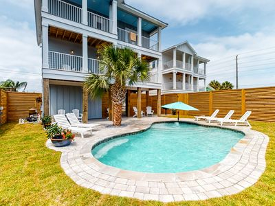 Photo for Custom built, dog-friendly home w/ private pool & balcony - 100 yards from beach