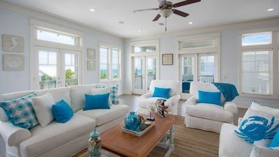 "Photo for Summers Edge Home ""Blue Bonnet by the Sea"" - Steps to Pool, Beach, Sleeps 16."