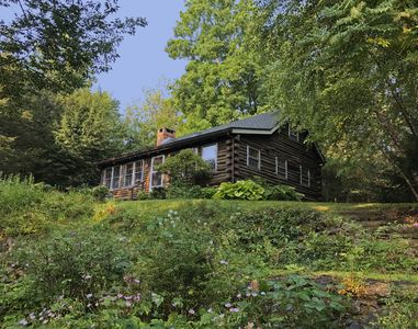 Photo for Vintage Log Cabin, Lush Garden, Private Lake Access!  Only 90 miles from NYC!