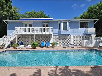 Photo for 3 BR / 2 BA  Garden home with private pool & short walk to the Beach Access  Sleeps 10