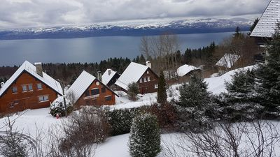 Photo for Chalet with fabulous view of Lake Geneva close to Piste and Telecabin