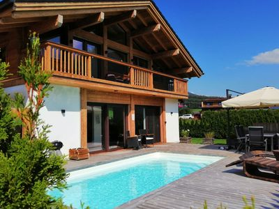Photo for Deluxe Chalet in Neukirchen with Pool & Panoramic Views