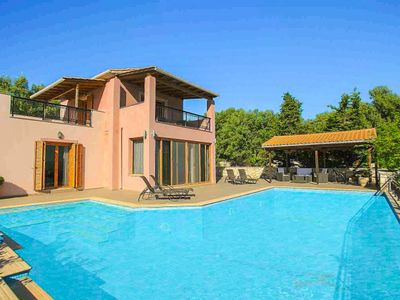 Photo for Villa Pegasus: Large Private Pool, Walk to Beach, Sea Views, A/C, WiFi, Car Not Required