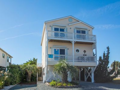 "Photo for ""Changes in Altitude/Changes in Attitude"" is a lovely 3 bedroom, 3 bath waterfront canal home, just steps away from convenient beach access!"