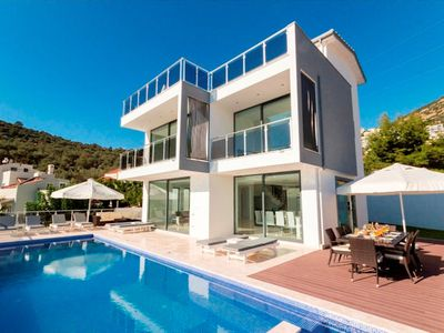 Photo for This is a brand new, recently completed 4 bedroom Kalkan Villa Bella View. Villa Cagla Iki is situat