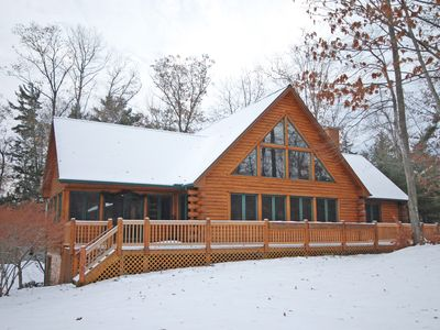 Photo for Large, Beautiful Log Home in Downtown Glen Arbor; 5BR/Two lofts/4BA; Acc:18