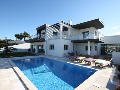 Photo for Stunning contemporary Villa Venda Nova with heated pool and game room