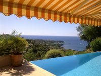 Great view, great location, lovely pool, garden and wildlife.