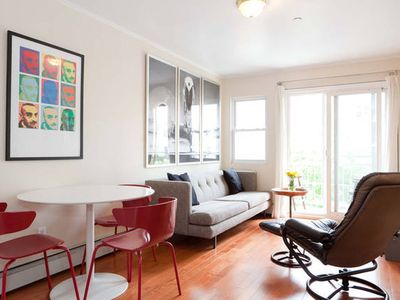 Photo for 3 bedroom, 2 bathroom condo in Brooklyn. Private balcony. Steps to subway.