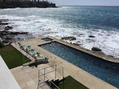 Photo for Oceanfront Kona PoolSpa Private Home Thanksgiving Christmas New Years Walk 2Town