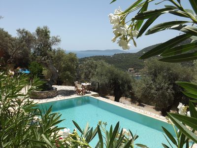Photo for Villa Cristina - Charming Villa with Stone and Wood Elements in Sivota Bay