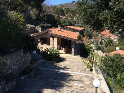 Photo for Private single house on the hills over Diano Marina - with 3 car spaces and yard