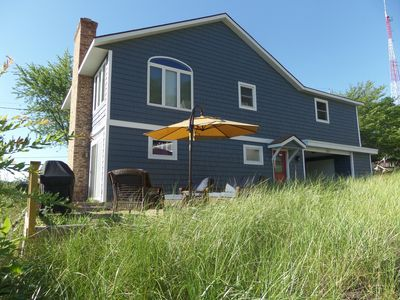 Photo for My Blue Haven: 3 BR Cottage on 5 Mile Hill w/ Lake Michigan Views (Sleeps 10)