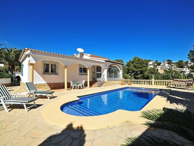 Photo for This 3-bedroom villa for up to 5 guests is located in Moraira and has a private swimming pool and Wi