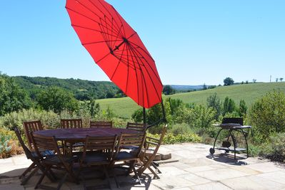 Dine overlooking the rolling countryside