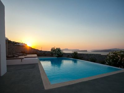 Photo for YOUR PRIVATE HOUSE WITH ULTIMATE LUXURY. 3 BEDROOM SUPERIOR VILLA IN MONSOON RESORT SANTORINI