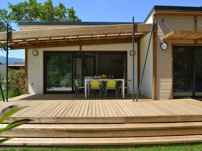 Photo for Wooden Chalet in by secure Casa e Natura Cottage Range Casa comfort +