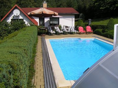 Comfortable house in Bohemian Paradise with swimming pool, internet