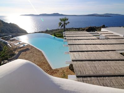 Photo for Luxury Villa Milo Mykonos with Private Bay and Private Pool, 4 BR 4 BA, Up to 8 Guests