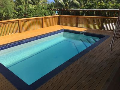Photo for Crown Villa Arorangi Just 50 metres from the beach with a private plunge pool