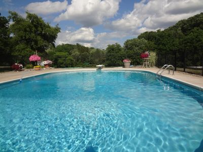 In Ground Heated Private Pool open May through Sept.