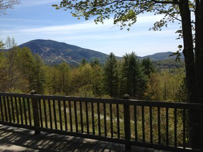 Spring view from the deck looking at Mt. Ascutney.
