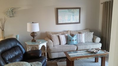 Photo for Stylishly Decorated 2bd/2ba Condo directly on Gulf of Mexico