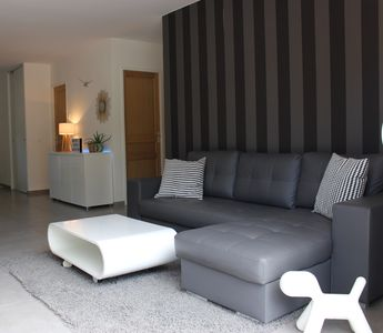 "Photo for ""MODERN SMALL VILLA T4"" 3 kms from the beaches. Pinarellu and the CAV River"