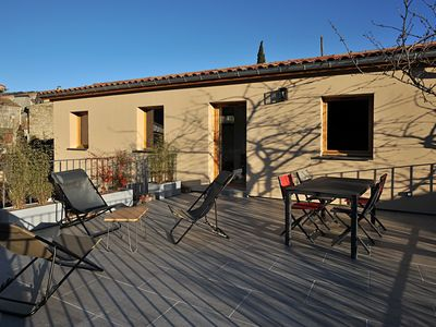 Photo for Holiday home in the Ardèche with 2 terraces and wonderful views of the valley