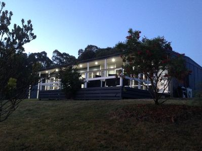 Kara's at Bungal, house front veiw. Note the large deck.