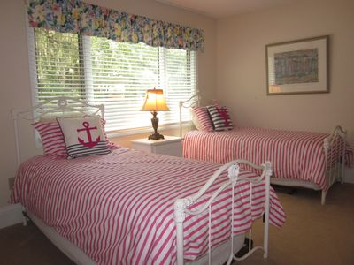 1st floor guest bedroom with twin beds and Jack n Jill bathroom
