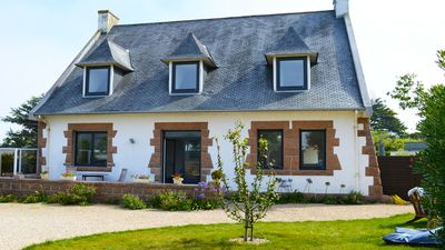 Photo for Villa Bretonne close to the beach Coz-Pors for 8 people - WIFI
