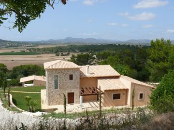 New exclusive, Majorcan tower finca with large pool, great view & near beaches
