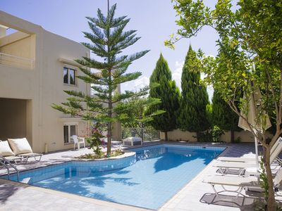Photo for Chryssi villas, close to long sandy beach, family holidays.